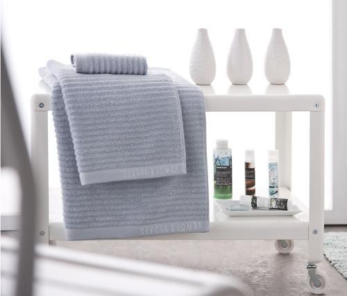 Juego de 3 toallas DEVOTA & LOMBA grises