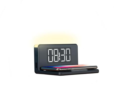 Despertador con cargador inalámbrico 10W KSIX BXCQI09