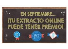 Comprueba si tu extracto online tiene premio